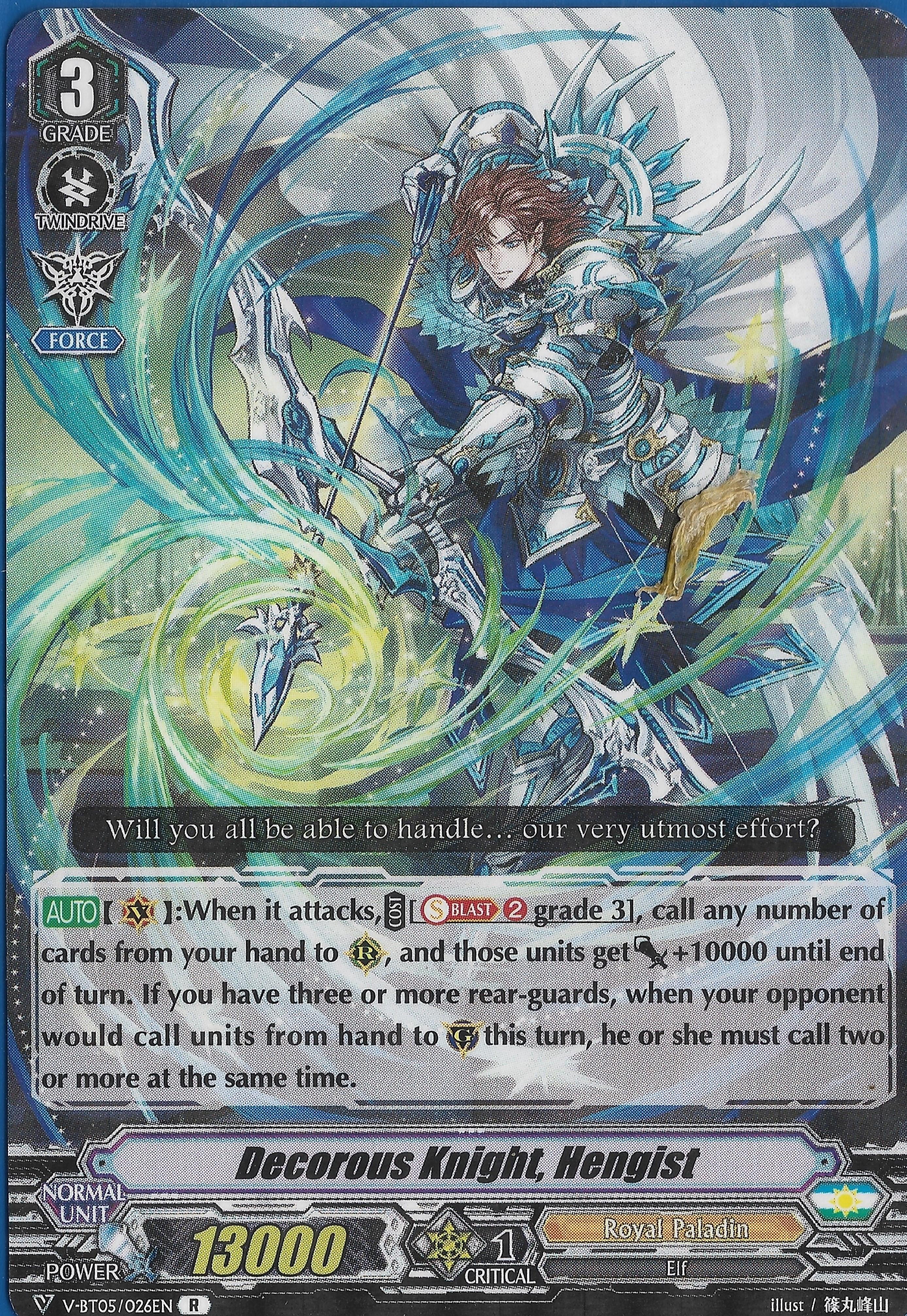 Decorous Knight, Hengist